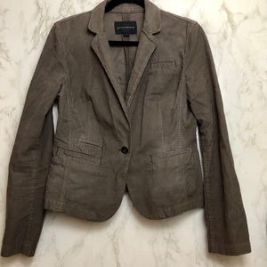 Banana Republic Gray Corduroy Blazer Size Medium